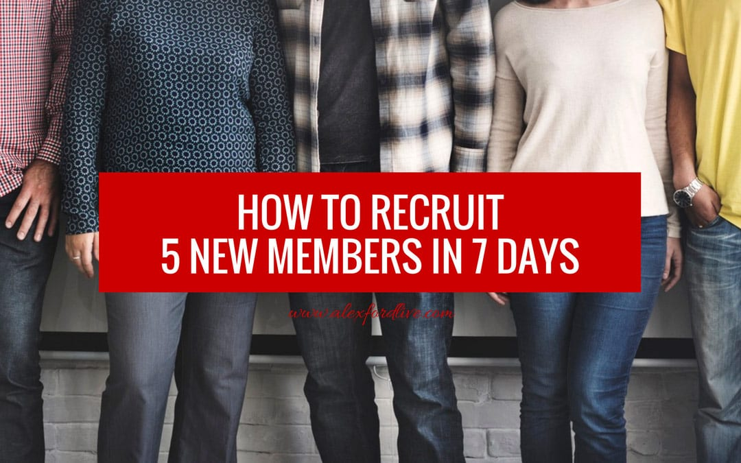 MLM Recruiting Secrets - How To Recruit 5 New Members In 7 Days
